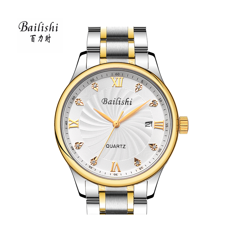 BAILISHI men watches brand men Diamonds Hour Stainless Steel Sports Wrist Watch Male Men's Waterproof Casual Quartz Watch sewor new arrival luxury brand men watches men s casual automatic mechanical watches diamonds hour stainless steel sports watch