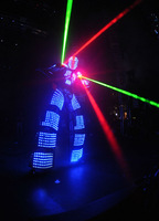 LED Costume /Light suits/ Robot Kryoman robot/ david guetta robot Size/ color customized