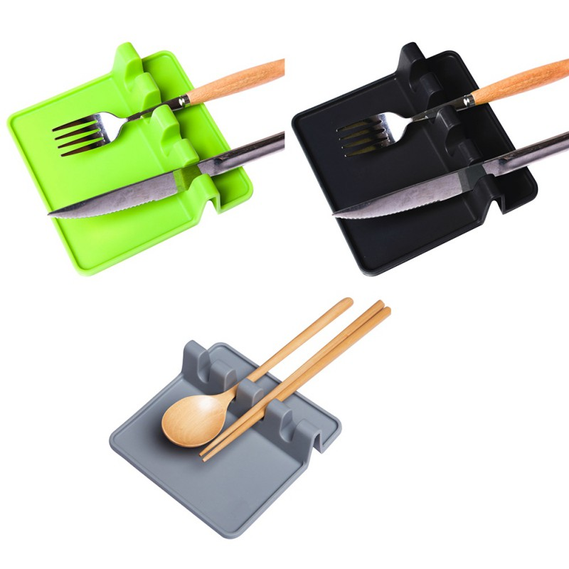 NORBI Kitchenware Kitchen Silicone Spoon Rest Utensil Spatula Holder Kitchen Cooking Tools Heat Resistant 2018 Hot Sale