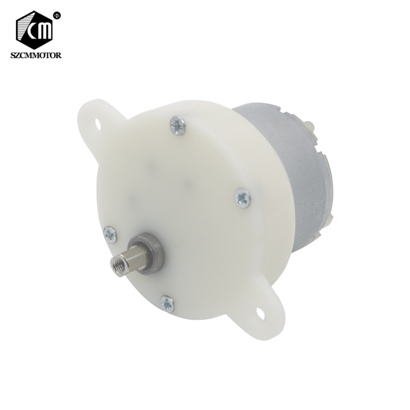 12V 24V DC Motor For Toy Low Speed 10RPM Geared Motor Plastic Gear Eccentric Shaft Gearbox Gear Motor image