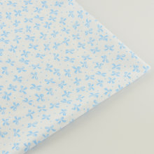 Booksew 100% Cotton Fabrics White Fabric Blue Butterfly Flower Designs Sewing Cloth Twill Bedding Telas Patchwork Home Tissue(China)