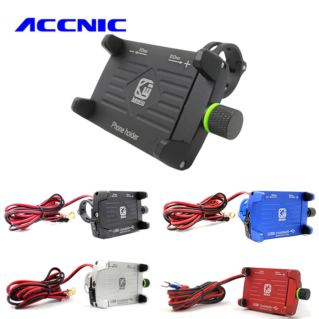 ACCNIC Motorcycle Bike Phone Holder 360 Rotatable Handlebar bicycle Phone stand Universal For iphone 6 6s 7 8 Phone Holder stand