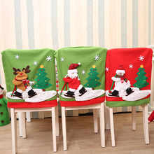 1Pcs Christmas Chair Cover Santa Claus Snowman Event Xmas Party Dinner Covers Festival Decoration