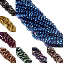 Top Quality 145pcs/ 4mm Round Assorted colorful glass beads Loose bead fit DIY Bracelet Jewelry Making Free shipping