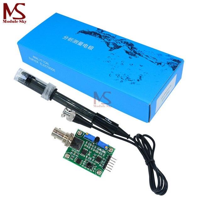 Liquide PH Valeur la détection de détection de Capteur Module de Contrôle de Surveillance Pour arduino BNC Électrode Sonde