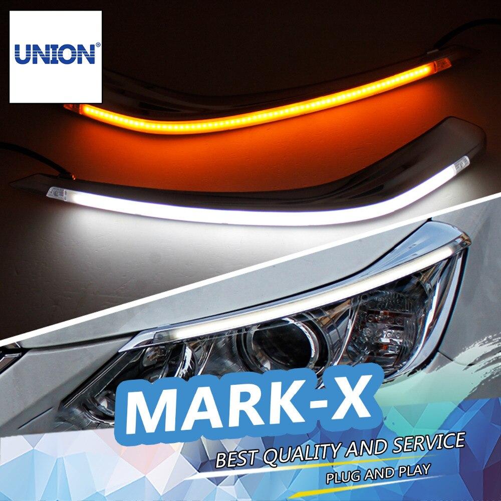 ФОТО UNION Car styling Freeshipping New 9600Lm For 2012-2014 Toyota Reiz Car Headlight  Angel Eyes LED Eyebrow Daytime Running Light