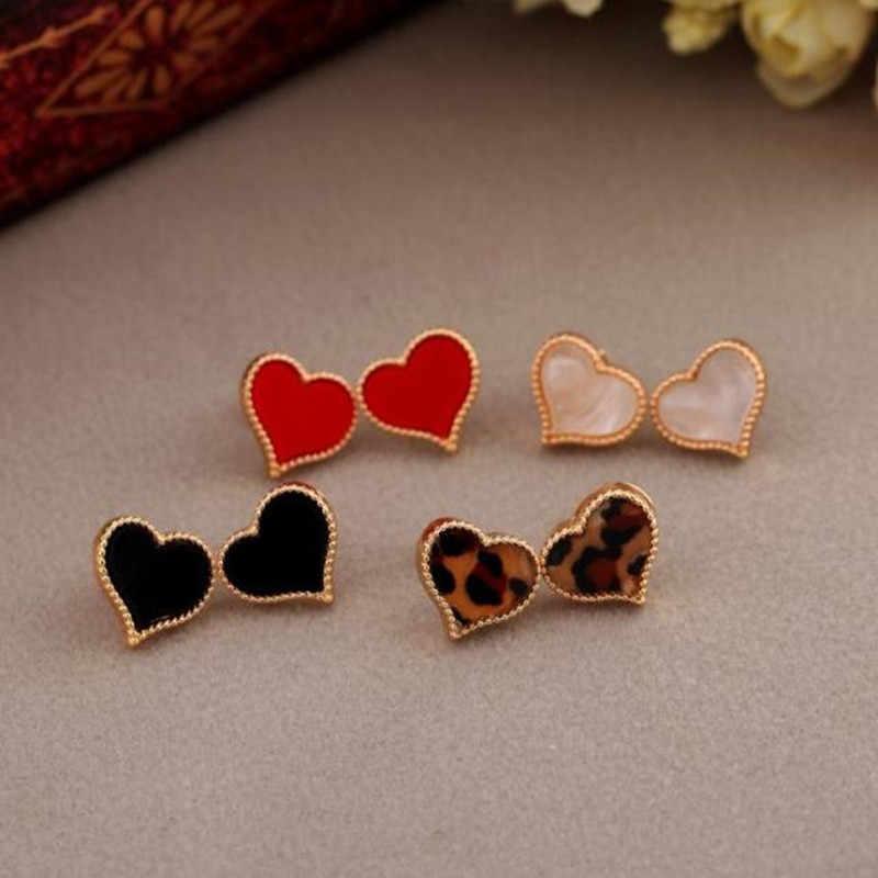 Đồ trang sức mới của phụ nữ đơn giản tình yêu trái tim đầy đủ của bông tai nhỏ giọt cho Nữ Ngọt Ngào Hợp Kim Stud Bông Tai quà tặng