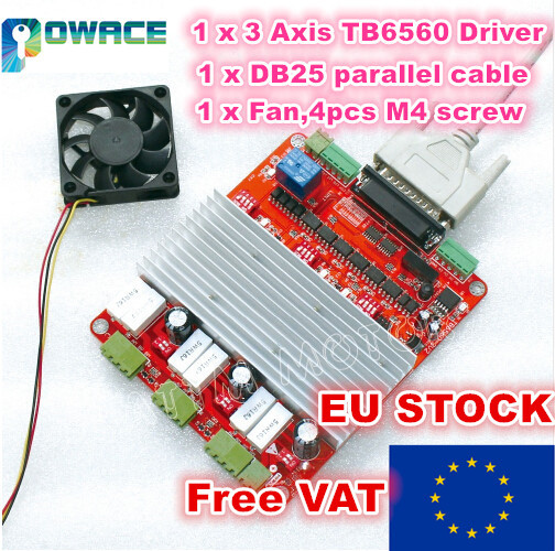 [STOCK ue/tva gratuite] optocoupleur haute vitesse!!! Contrôleur de CNC 3 axes TB6560 moteur pas à pas
