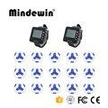 Mindewin Новинка 2017 433 МГц передатчик 15 шт. водонепроницаемые кнопки вызова + 2 шт. часы пейджер ресторан Беспроводная система обслуживания вызов...
