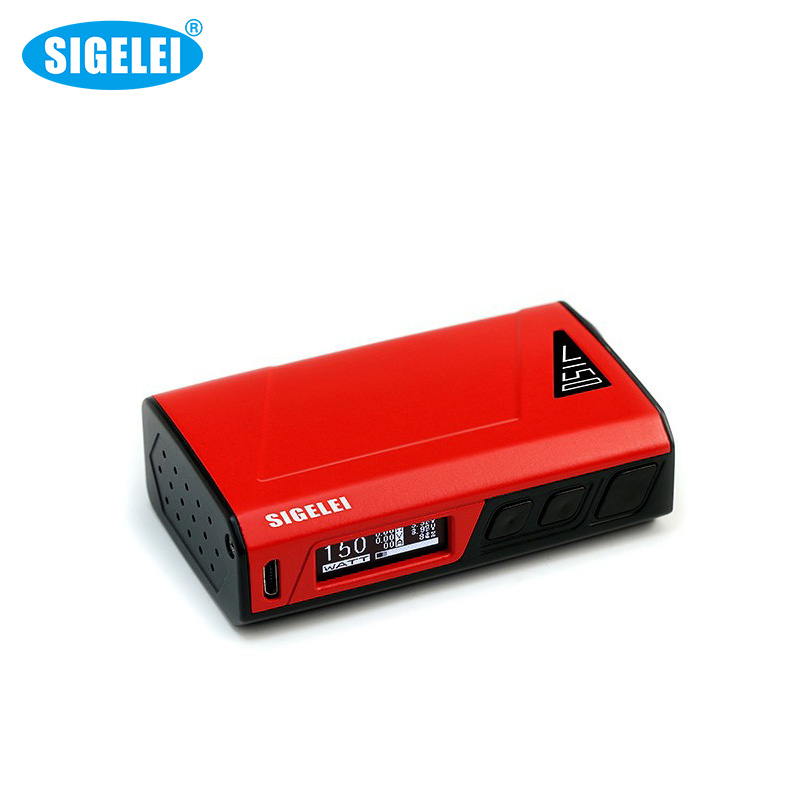Electronic Cigarettes Genuine Sigelei J150 Box Mod Li-polymer Battery Sigelei Vape150W  Mods VS Sigelei 150W TC Mod 1 Pcs / Lot sigelei 150w vv vw 150watts mod 18650 vape kanger subtank aspire sigelei 150w box mod