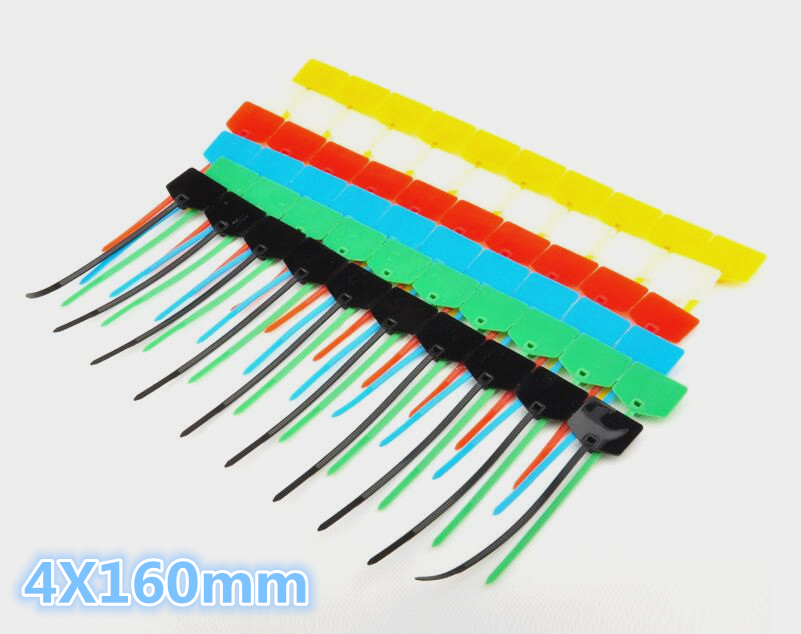 free ship 100pcs sign cable tie/ Plastic cable tie/ tag tied /mark tie 4*160mm Factory direct sale