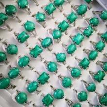 100 шт женские кольца с серебряным покрытием