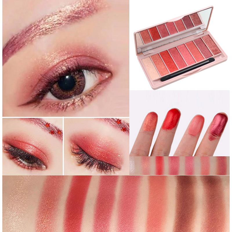 HOLD LIVE 10 Colors Glitter Matte Eyeshadow Palette Pigment Earth Color Wet Eye Shadow Palettes Nude Shimmer Eyeshadow Beauty 208 wet nude