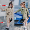 Spring  2017 Korean version of the new double-breasted shorts jacket + skirt two-piece set for free shipping