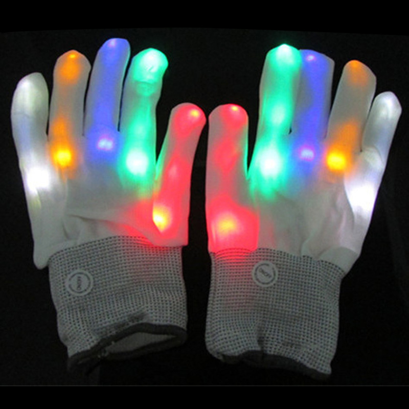 Led Light Gloves Flashing Finger Mittens Valentine Day
