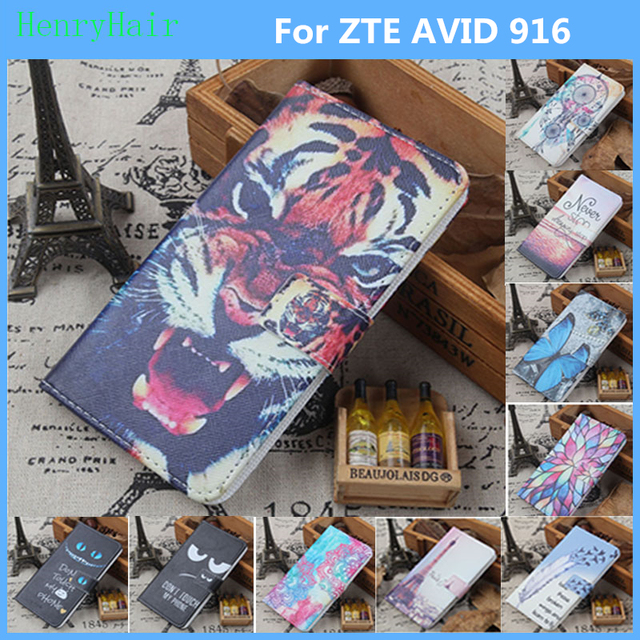 check out 4b186 85d10 US $3.91 10% OFF|Aliexpress.com : Buy Hot! Cartoon Pattern PU Leather Cover  Case Flip Card Holder Cover For ZTE AVID 916 Wallet Phone Cases from ...