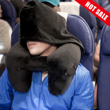 H форма надувная дорожная подушка складной легкий ворс подушка для шеи автомобильное кресло офисный самолет Спящая Подушка