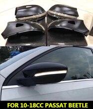 Для VW 10 18CC Passat B7 Scirocco 09 + MK3 динамический зеркальный индикатор, светодиодный боковый указатель поворота, светильник с последовательным сигналом, светодиодный, Beetle