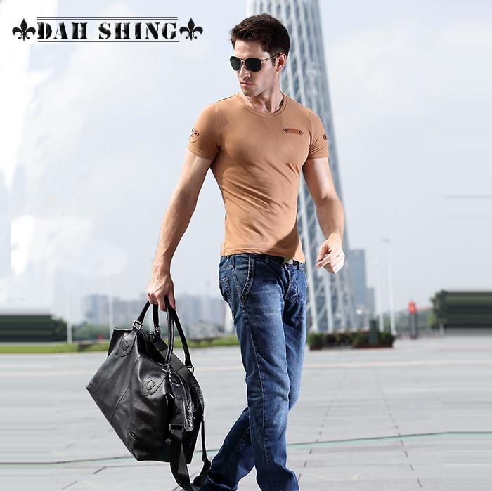 Svart / Brun 100% Garanterad äkta läder topp cowhide män läder - Väskor för bagage och resor - Foto 3