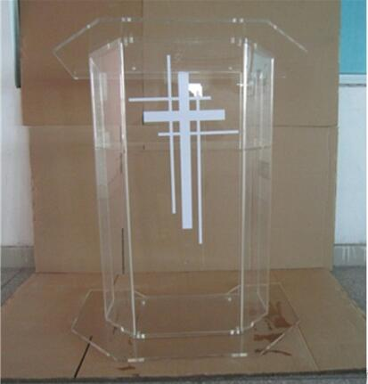 Free Shipping High Quality Price Reasonable Beautiful Clear Acrylic Podium Pulpit Lectern Acrylic Podium