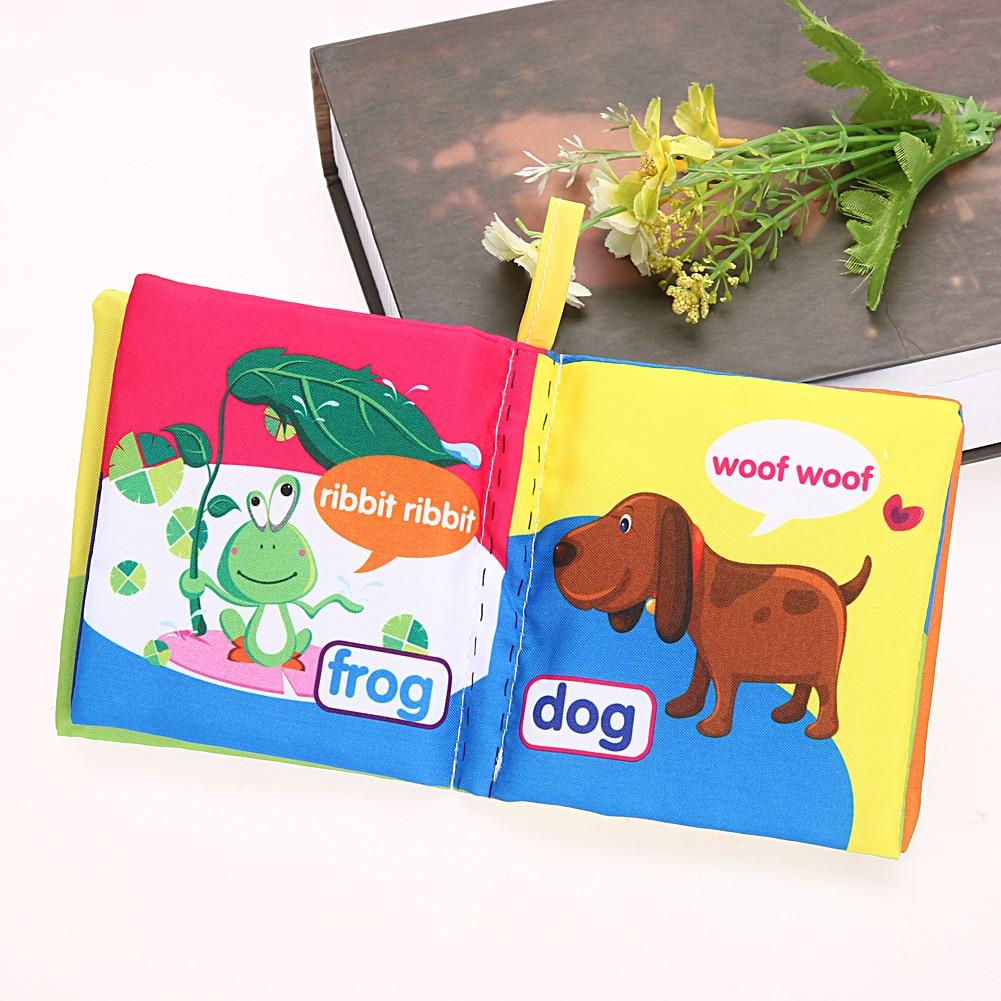 Kids Baby Cloth Fabric Cognize Book Educational Developmental Toys WA