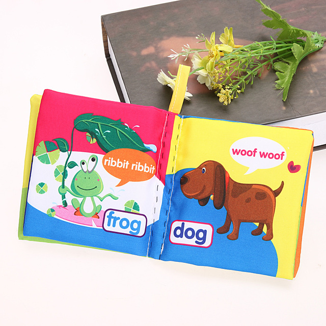 Soft Cloth Book For Children Educational Montessori Cartoon Book Toys Kids Cognize Intelligence Developing Toys for Children