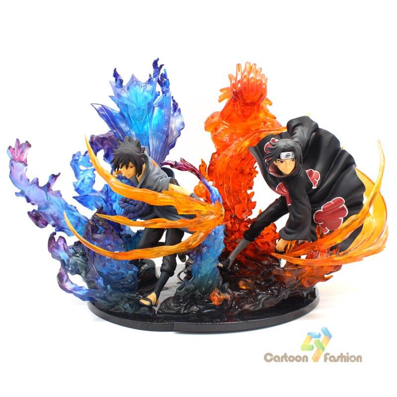 21cm Anime figure Naruto PVC Action Figure Zero Uchiha Itachi Fire Sasuke Susanoo Relation Collection Model Toys Figures naruto action figure toys uchiha sasuke uchiha madara q version anime pvc figure juguetes dolls model kids best brinquedos