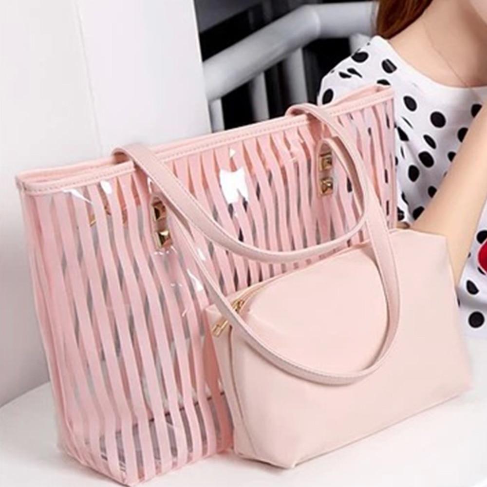 2019 Fashion PVC Jelly Bag Women Transparent Shoulder Handbags Crossbody  Bag For Girls