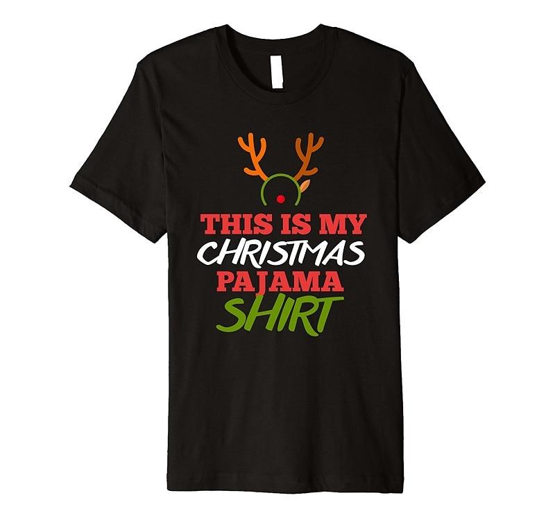 Cheap Printed T Shirts O-Neck Men Christmas Pajamas Shirt Short Sleeve Regular Tee Shirt