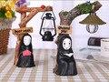 Nueva 17 cm Anime Japonés Mi Vecino TOTORO Figura de Acción de Studio Ghibli Kaonashi no Face Hombre LED Lamparita Hayao Miyazaki juguete