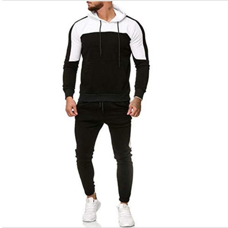 New 2018 Brand Tracksuit Men Thermal Underwear Men Sportswear Sets Fleece Thick Hoodie+Pants Sporting Suit Malechandal Hombre