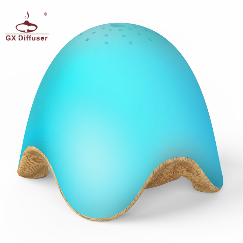 GX Diffuser Mini Light Wood Electric Battery Fragrance Rechargeable USB LED Night Lamp