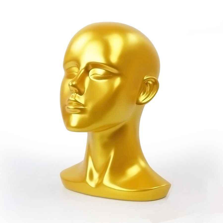 57 CM الفيبرجلاس الذهب الإناث المعرضة الدمية رئيس ل قبعة مكبرة VR سماعة خوذة عرض