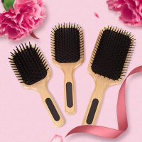 Wooden Paddle Hair Brush Health Care Scale Head Massage Comb Women Wet Curly Detangle Hair Brush Salon Hairdressing Styling Tob