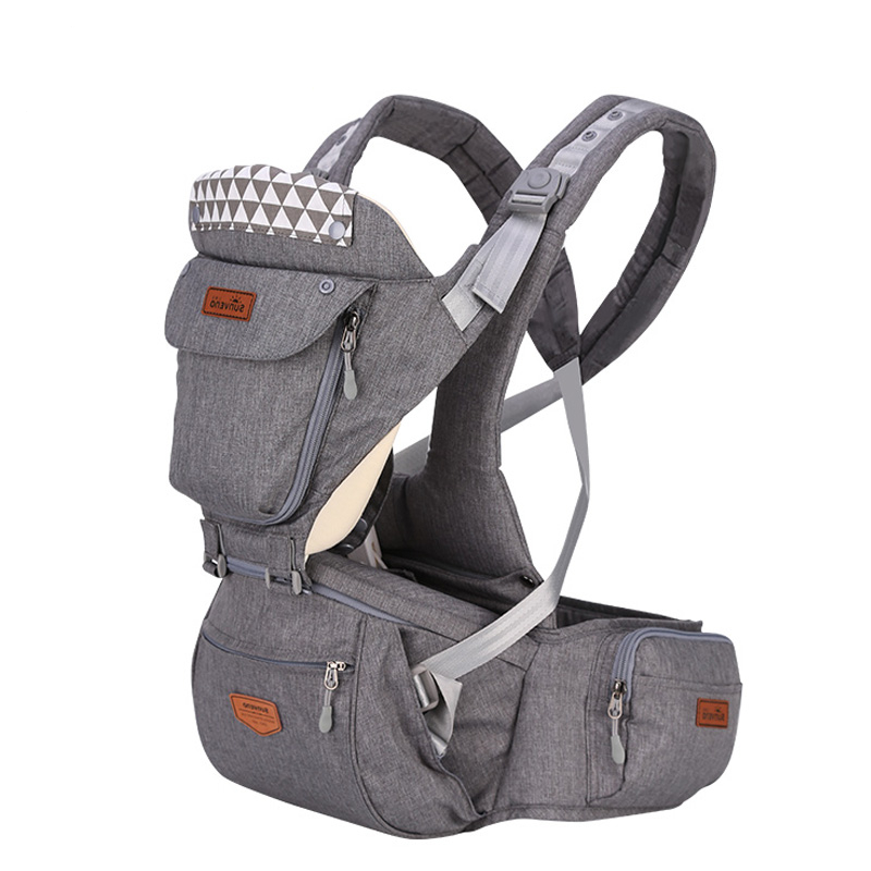 CH BABY Ergonomic Baby Hipseat Carrier Front Facing Ergonomic Kangaroo Baby Wrap Carrier Infant Sling For Baby Travel 0-36M
