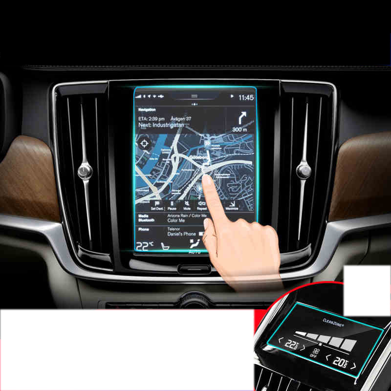 lsrtw2017 car navigation GPS screen protective toughened film for volvo  xc90 xc60 s90 xc40 2016 2017 2018 2019