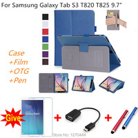 For Samsung Galaxy Tab S3 9 7 T820 T825 Tablet Slim Magnetic Premium PU Leather Stand