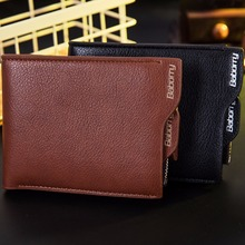 RFID Theft Protect Coin Bag Zipper Men Wallets with Pocket ID Blocking Mini Slim Wallet Automatic Pop up Credit Card Coin Purse