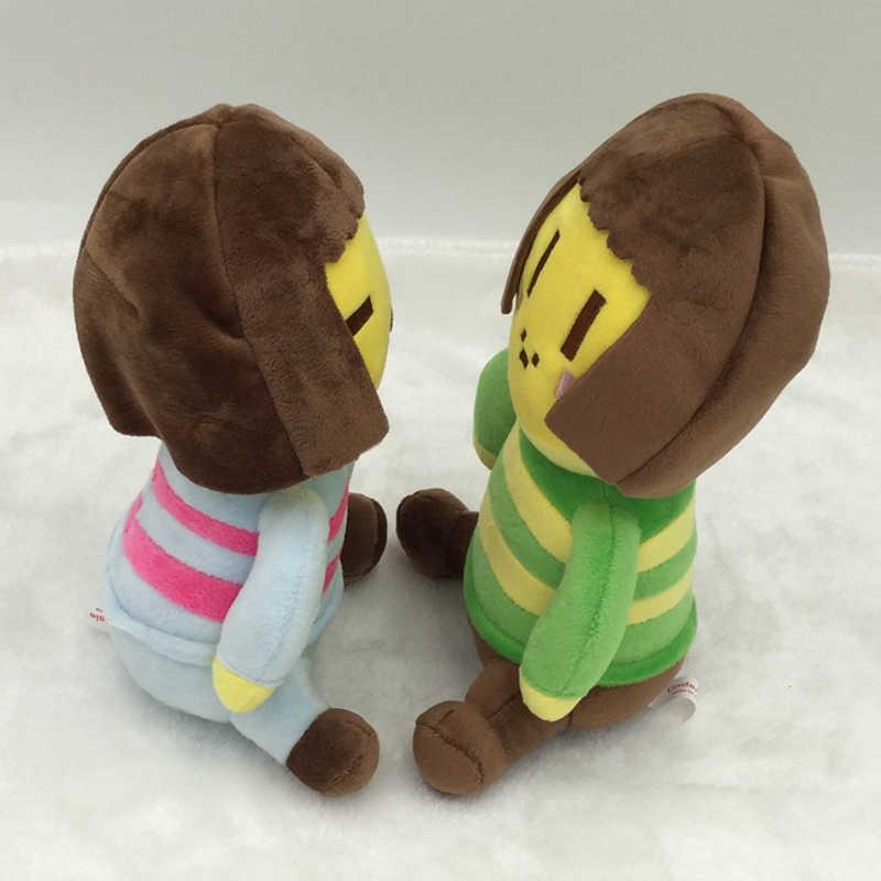 20cm undertale chara & frisk pelúcia boneca brinquedo macio recheado brinquedos para crianças crianças presentes de natal