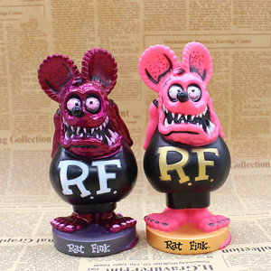 Image 4 - الفئران فينك الأب الكبير الكرة رئيس PVC الشكل العمل النادرة نموذج لعب 16 سنتيمتر