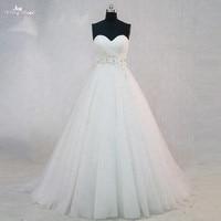 RSW979 simple barato una línea vestido de novia foto real
