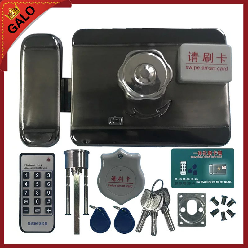 125khz Electronic locks household electronic and hire ID card lock door lock integrated remote intelligent induction door lock assessment of household electrical and electronic waste management