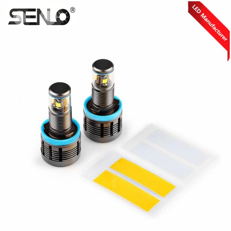 2018 Новый E92 H8 светодиодный Ангел глаз Светодиодный Маркер свет canbus Белый Синий Желтый ошибок для X3 E70 X6 e71 E90 E91 E92 M3 E89 E82 E87