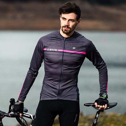 Santic 2019 Cycling Jerseys Men Long Sleeve Pro Road Bike Clothing MTB Top Jersey Summer Bicycle Sportwear Outdoor Breathable in Cycling Jerseys from Sports Entertainment