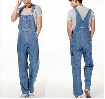 Hot 2015 Men's Plus Size Overalls Large Size Huge Denim Bib Pants Fashion Pocket Jumpsuits Male High Qaulity MB368