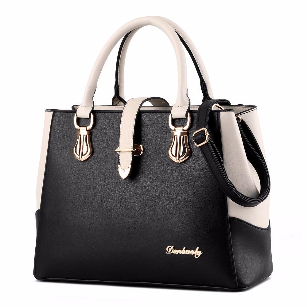 2017 Brand Women Bags Handbag New Fashion PU Leather Ladies Big Shoulder Bags Zi