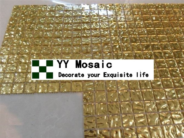 Acidi e resistenza agli alcali moderna in vetro a specchio oro e