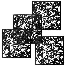 Украшение для дома 4 шт Бабочка птица цветок висячие экран разделительная панель занавес для комнаты дома белый/черный/красный