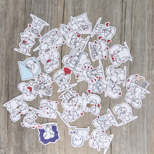 Image 3 - 40 pcs Couple character expressi for phone car Label Decorative Stationery Stickers Scrapbooking DIY Diary Album toy Sticker