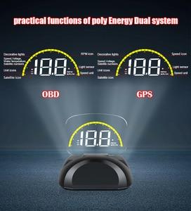 Image 3 - C700 و C700S OBD2 سيارة غس هود رئيس متابعة العرض مع مرآة الإسقاط الرقمي سيارة السرعة الزائدة إنذار نظام إشارة تنبيه للسلامة